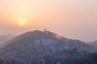 mount lushan at dusk