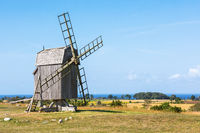 Windmill on a field in summer