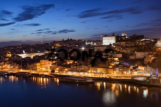 City of Porto Night Cityscape in Portugal