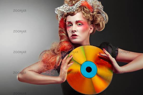 Laserdisco shining girl.
