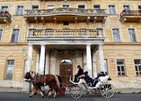 Stadtrundfahrt mit Pferdekutsche in Marienbad,Tschechien