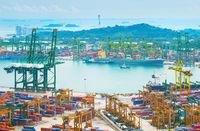 Industrial port of Singapore