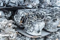 recycling car engines closeup