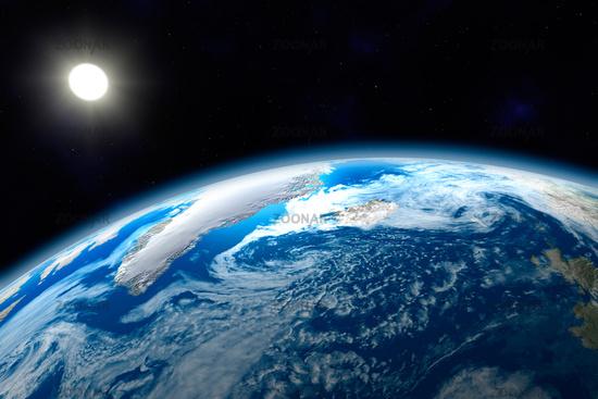 Weltall Erde Wallpaper Nördlicher Bereich Der Erde