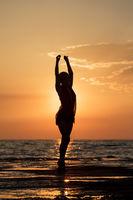 Dance at sunset