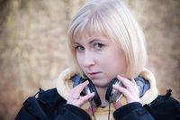 Portraitfoto eine jungen blonden Frau