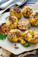 Potatoes baked in their skins with spices.