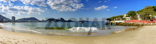Panoramic shot of Copacabana beach