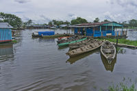 Boats in Leticia, Amazon Basin, Colombia