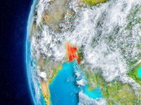 Bangladesh on Earth from space