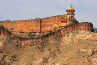 Jaigarh Fort on the top of Hill of Eagles near Jaipur, Rajasthan, India