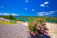 Viewpoint on Krka river national park cliffs