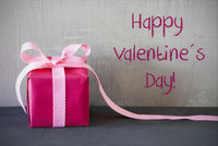 Pink Present, Text Happy Valentines Day
