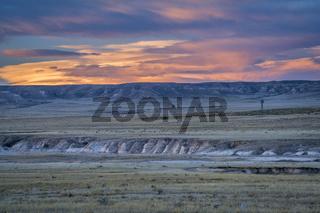 dusk over Colorado prairie
