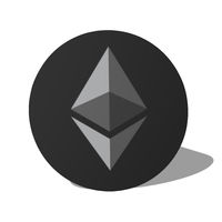 Grey etherum logo vector design
