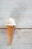 Milk ice cream cone