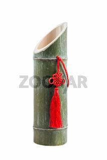 bamboo tube liquor isolated