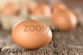 Raw Brown Eggs