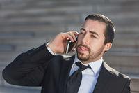 Manager führt eine Business Telefonat