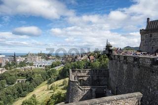 Blick vom Edinburgh Castle auf die Altstadt von Edinburgh