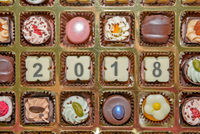 Chocolate sweets and candies new year 2018