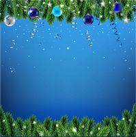 Christmas Border With Fir Tree And Snowflacke