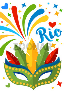 Brazil Carnival Background for Placard, Poster, Flyer and Banner Design