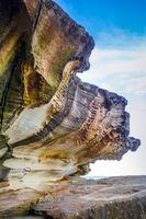 Bondi Beach coastal cliffs, Sydney, Australia
