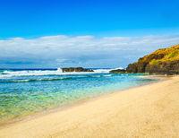 Beautiful landscape. Gris-Gris beach.