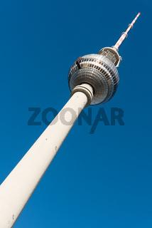 Der Fernsehturm in Berlin, Deutschland