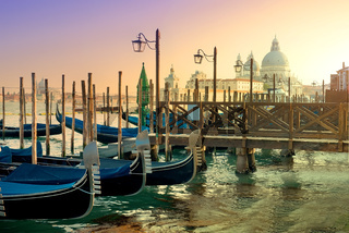 Gondolas and basilica