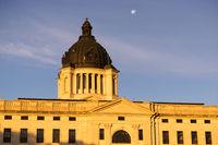 Moon Rising South Dakota State Capital Building Hughes County Pierre SD