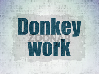 Finance concept: Donkey Work on Digital Data Paper background