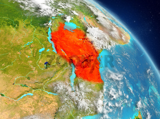 Tanzania from orbit