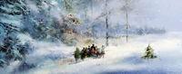 weihnachten winter wald schnee illustration