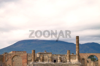 Ruins and Remains of the city of Pompeii Italy.