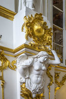 Ornate Stonework At The Winter Palace St. Petersburg Russia