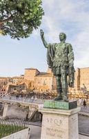bronzeskulptur, gaius julius caesar