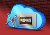 cloud with a combination lock