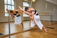 tango dancer woman excersizing in dance studio room