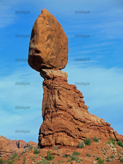 Balanced Rock Close-Up, Arches National Park, Utah