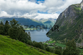 Norddal at the end of the Storfjorden, Norway