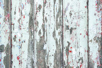 Grunge wooden background with old white paint