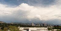 Mountains Dominate Salt Lake City Skyline Background Looking East