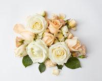 bouquet of beige roses
