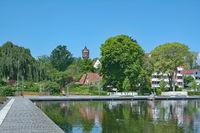 an der Seepromenade in Eutin,Holsteinische Schweiz,Deutschland