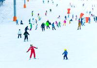 Ski lesson for children