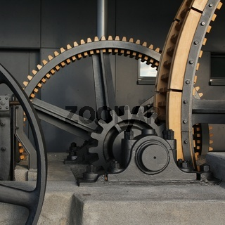 Big cogs of a cable car