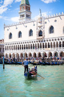 VENICE, ITALY - JUNE 27, 2016: San Marco area full of turists