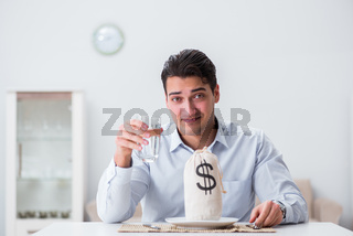 Concept of expensive dining in restaurants